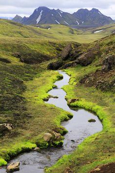 Iceland.  Landmannalaugar - Skogar track