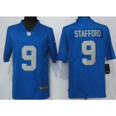 e031f3883 Men's Detroit Lions #9 Matthew Stafford Limited Blue Throwback Retired  Vapor Untouchable Jersey