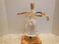 Bride doll found object twig doll outsider artist by AgoVintage