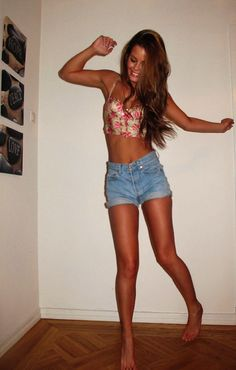 fitness and long hair and tan :D