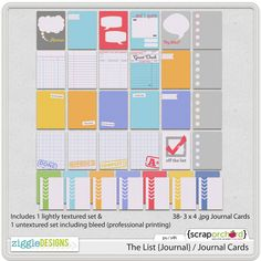 The List {Journal} / Journal Cards by @Kami Leonard aren't they awesome!!!!!!!
