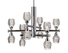Kuzco CH52127-CH - Magnificent LED Chandelier with Up Down Die Cast Clear Glass