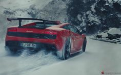 Lamborghini Gallardo STS on Snow