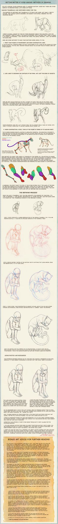 Poses: methods of drawing by hibbary on deviantART