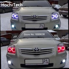 46.00$  Watch here - http://alibx9.worldwells.pw/go.php?t=32755751701 - For Toyota Avensis T250 RGB LED headlight halo angel eyes kit car styling accessories 2003 2004 2005 2006 2007 2008 2009 46.00$