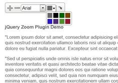 Text Zoom is a simple and lightweight jQuery plugin that provides your visitor with a simple way to change the text size, alignment, color, vertical grid and font-family of an article on a page.