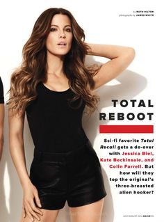 Jessica Biel, Kate Beckinsale, Colin Farrell – Total Recall [Maxim-July-2012-USA] » RBoy - Your Daily Entertainment