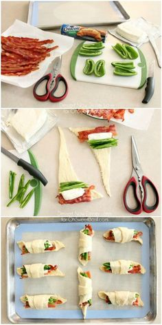 Jalapeno Popper Roll Ups – only 4 ingredients for a tasty snack or appetizer w. Jalapeno Popper Roll Ups – only 4 ingredients for a tasty snack or appetizer with a kick! Finger Food Appetizers, Yummy Appetizers, Yummy Snacks, Appetizer Recipes, Yummy Food, Yummy Eats, Party Appetizers, Finger Foods, Health Foods