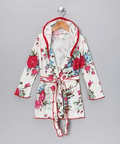 Take a look at this Romantic RosesRobe - Toddler & Girls by Charm'd on #zulily today!
