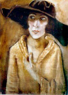 Otto Dix - Title: Frau Doctor Hans Koch Year: 1921 She later became Frau Dix.