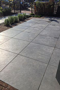 16 Poured Concrete Backyard Patio Notice the rectangles bordering the sq edges Looks ok in Concrete Patios, Poured Concrete Patio, Stamped Concrete Driveway, Concrete Backyard, Concrete Patio Designs, Cement Patio, Backyard Patio Designs, Backyard Landscaping, Patio Ideas