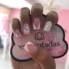 Short Nails, Manicure And Pedicure, Nail Tips, Nailart, Nail Designs, Lily, Beauty, Instagram, Cute Nails