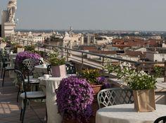 Marriott Grand Hotel Flora Roof Top Terrace overlooking the Eternal City #Rome