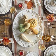 Pumpkin 16-Piece Dinnerware Set, available at #surlatable