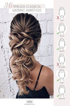 25 +> 36 timeless classic wedding hairstyles – saç – hairstyles … - New Site Wedding Hairstyle Images, Best Wedding Hairstyles, Loose Hairstyles, Hairstyle Ideas, Hair Ideas, Classic Hairstyles, Simple Hairstyles, Bridal Braids, Bridal Hair