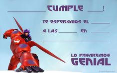 Cumplea�os BIG HERO 6 Baymax, Big Hero 6 Party Ideas, Big Heroes, Hero 3, Birthday Parties, How To Plan, Fun, Blog, Decoration Party