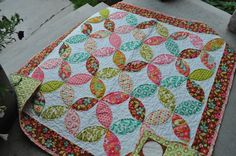 """New quilt for the girlies...now to decide what colors. Pattern from Pie Plate Patterns """"No Sew Pie to Go II""""."""
