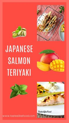 An easy baked traditional gluten-free Japanese Teriyaki Salmon with a modern twist. Pairing it with mango, mint and pistachios makes it heaven in your mouth. Teriyaki Salmon, Teriyaki Sauce, Japanese Teriyaki, Mango Salad, Salmon Fillets, Pistachios, Fish Sauce, Salmon Recipes, Lemon Grass