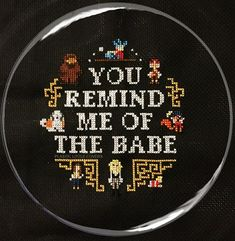 "Cross Stitch Pattern ""You Remind Me of the Babe"" Labyrinth Inspired Cross Stitch Pattern pdf. Instant Download."