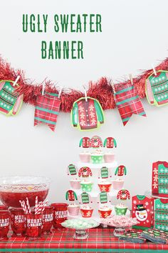 Jamie from @craftingchicks has the perfect Ugly Sweater Party decoration! This DIY garland takes just a few supplies and is so easy to make. Get the step-by-step on our blog.