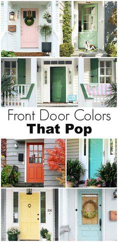 Front Door Colors That Pop Front door paint colors that pop! Front Door Colors That Pop Front door p