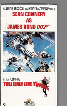 YOU ONLY LIVE TWICE VHS  JAMES BOND 007 SEAN CONNERY