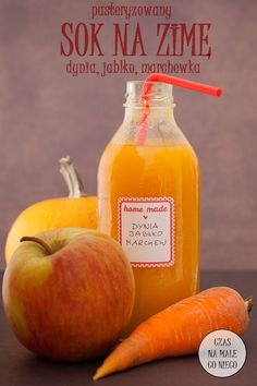 sok kubuś na zimę Smoothie Drinks, Smoothies, Healthy Dishes, Healthy Recipes, Good Food, Yummy Food, Keto Diet For Beginners, Diy Food, Hot Sauce Bottles