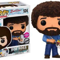 4bbcfa5e32e BOB ROSS BOBBLE-HEAD POP N 524 BOB ROSS FLOCKED LIMITED addict games shop funko