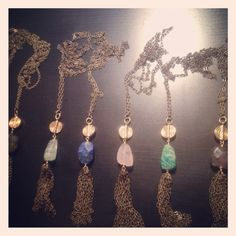 Easy tassel necklaces by Aquarian Thoughts... available at Crafts on Columbus April 28-29th!