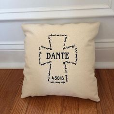 This was the last pillow to leave the studio last month before our big move to our temporary home. Making sure Dante's pillow didn't get packed up with the To Storage box was my most stressful job that day! Many Blessings are wished for you Dante!!