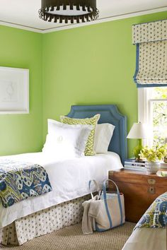 If you've already decided you want to spotlight green or you still need some convincing and inspiration, you're in the right place. We're showcasing designer green bedrooms that set the gold standard for decorating with this nature-inspired color. Keep reading to see how this versatile anchor color can transform just about any bedroom, no matter where it is—an estate, city apartment, or even a mountain chalet. Green Bedrooms, Bedroom Green, Nature Inspired, Green Colors, Color Inspiration, Spotlight, Anchor, Beautiful Homes, Mountain
