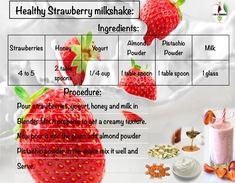 Healthy Milkshake, Strawberry Milkshake, Pistachio Milk, Pistachios, Powdered Milk, Milk And Honey, Milkshakes, Yogurt, Smoothies