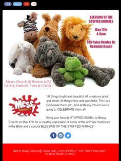 Messy Church @ Riviera UMC, Blessing of the Stuffed Animals, May 17th, 2015, Redondo Beach, CA