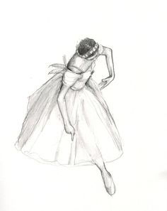 Ballerina IV Original Pencil Drawing Classical by BornInScotland