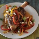 Try the Braised Lamb Shanks with Sweet Peppers Recipe on williams-sonoma.com