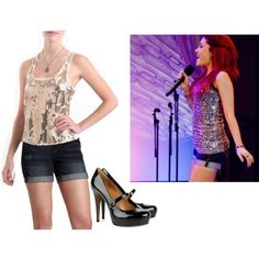 Cat Valentine from Victorious Victorious Cat, Cat Valentine Victorious, Basic Outfits, Edgy Outfits, Cute Outfits, Teen Fashion, Ariana Grande, Fashion Looks, My Style