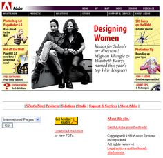 Of course Adobe had a nice site in the 90s.  I can't wait to get PageMaker 6.5 & PageMill 2.0!