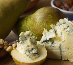 IRISH CUISINE - Pears stuffed with cashel blue cheese and roasted hazelnuts