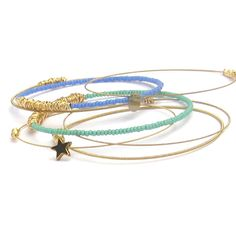 Summer Nights Beaded Bangle Set by DesignSea on Obaz.com