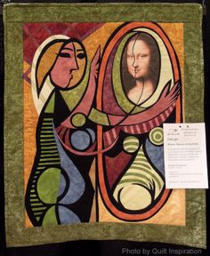 """""""Mirror, Mirror on the Wall"""" by Brenda Archambault. Storybook quilt challenge.  2014 Arizona Quilt Guild, photo by Quilt Inspiration"""