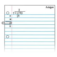 """TEACHING DIVISION~  To help conquer long division, give each student a paper clip, and review the steps of long division. When it's time to work, have each child write the simple division acronym """"DMSB"""" for """"Divide, Multiply, Subtract, Bring Down"""" on her"""