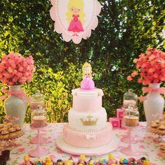 Bolo de Aniversário Festa Princesa Aurora
