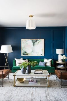Warning: These Blue Living Room Ideas Will Make You Want to Redecorate Stat | Hunker Baby Room Decor, Living Room Decor, Bedroom Decor, Room Baby, Blue Bedroom, Bedroom Ideas, Dining Room, Small Living Rooms, Living Room Designs