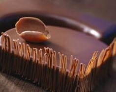 Photo d'entremet au chocolat praliné