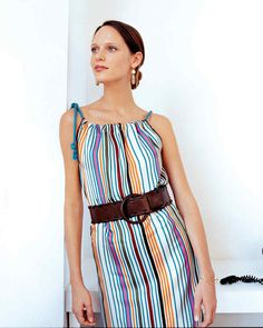 This elegant dress is so easy, it can be sewn in 11 speedy seams.
