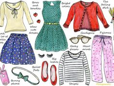 This week's illustrated how-to is all about the style of Jessica Day (Jess), Zooey Deschanel's character on New Girl. If you want to dress like Jess, here are some of her fashion essentials. Feel free to let me know what you think in the comments below and have a good week!