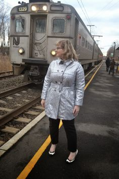 Erika Made It: The Sequin Trench Coat: Vogue 8884