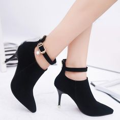 GET $50 NOW | Join RoseGal: Get YOUR $50 NOW!http://www.rosegal.com/boots/rhinestones-buckle-zipper-ankle-boots-950597.html?seid=7596899rg950597