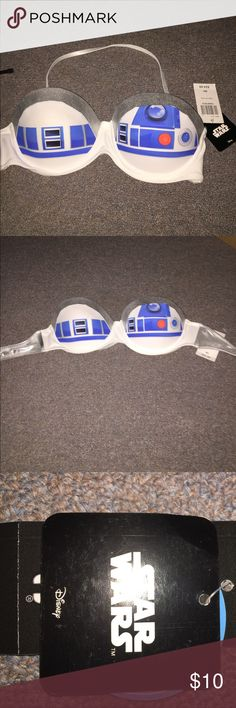R2D2 bra top (swim top.) This R2D2 top is the real deal. It's a Star Wars Disney brand top.  It can be worn as swimwear, cosplay, costume or a bra. May the force be with you! Disney Intimates & Sleepwear Bras