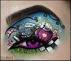 Why do people have such larger eyelids than me??!!  Eye Art!